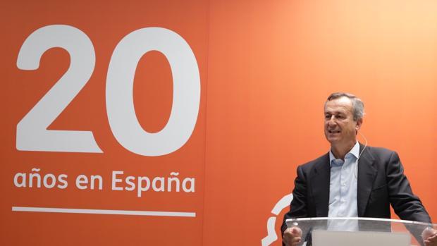 El consejero delegado de ING España y Portugal, César González-Bueno, durante el acto conmemorativo del vigésimo aniversario de la entidad en España