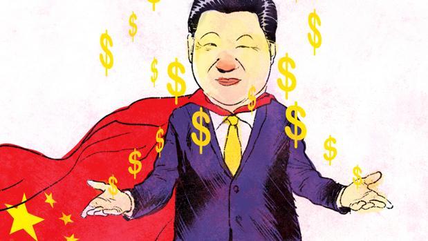 Dibujo del presidente chino, Xi Jinping