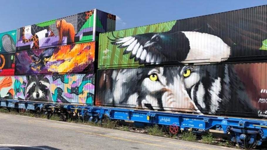 El Tren de Noé llega a España para concienciar sobre la huella medioambiental del transporte de mercancías