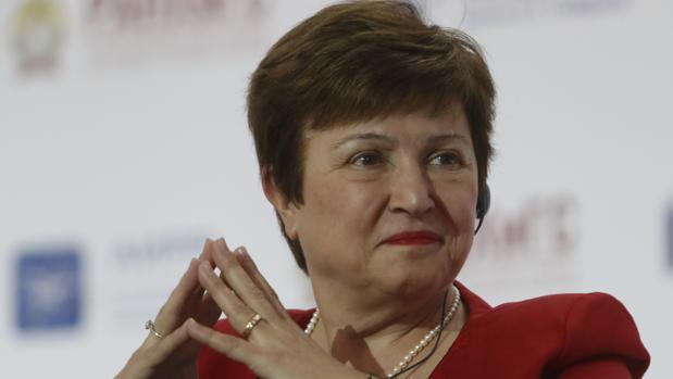 Kristalina Georgieva, de 66 años, aspirante a la dirección del FMI y directora ejectuvia del Banco Mundial