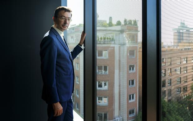 Jorge Badía, consejero delegado de Cuatrecasas, posa para ABC en la sede de su empresa en Madrid