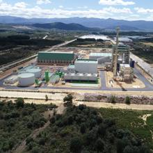 The biomass generation plant in Cubillos del Sil (León)