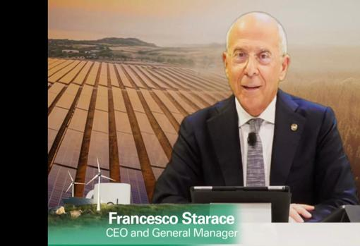 The CEO of Enel, today, during the presentation