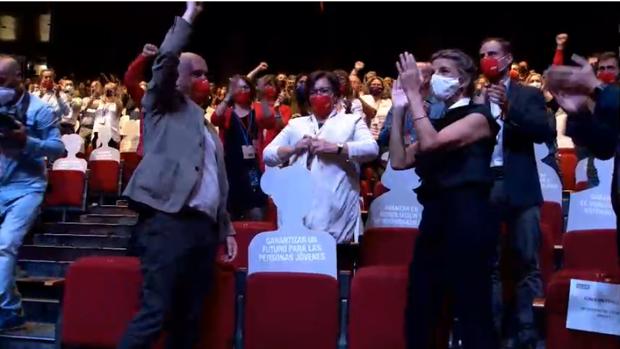 «Derogaremos la reforma laboral del PP este año», reitera Yolanda Díaz ante sus compañeros de CC.OO.
