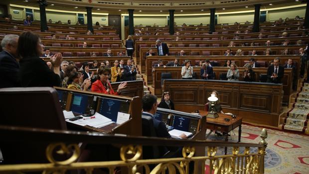 Imagen de una sesión de control al Gobierno en el Congreso los Diputados