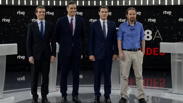 Los cuatro principales candidatos a la Presidencia del Gobierno