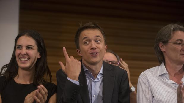Íñigo Errejón, en la presentación de Más País, con Rita Maestre y Marta Higueras a sus lados