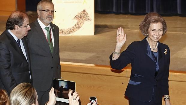 La Reina Sofía, minutos antes de inaugurar el Congreso Nacional del Alzheimer en Valladolid