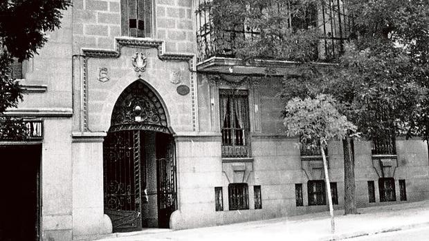 La imagen de 1955 de la casa donde vivió Ramón y Cajal