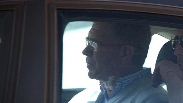 El exdirigente del PP de Madrid, Francisco Granados, tras ser detenido por la Guardia Civil