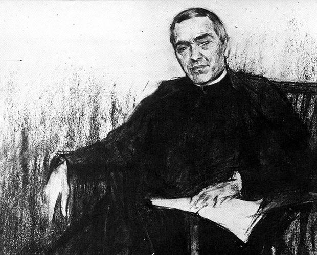 Verdaguer, en un retrato de Ramon Casas