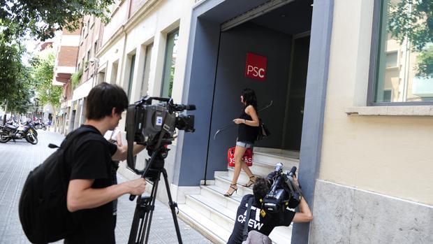 Entrada principal de la sede del PSC, en la calle Nicaragua