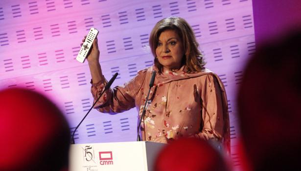 La directora de CMM, Carmen Amores, durante su intervención