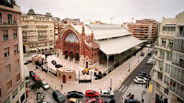 Imagen histórica del Mercado de Colón