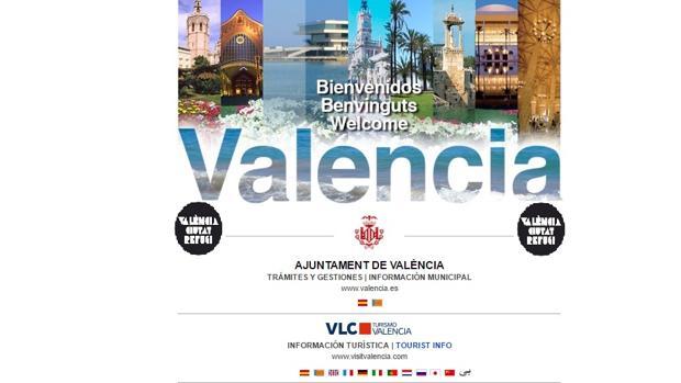 Captura de la página web del Ayuntamiento de Valencia tomada este martes