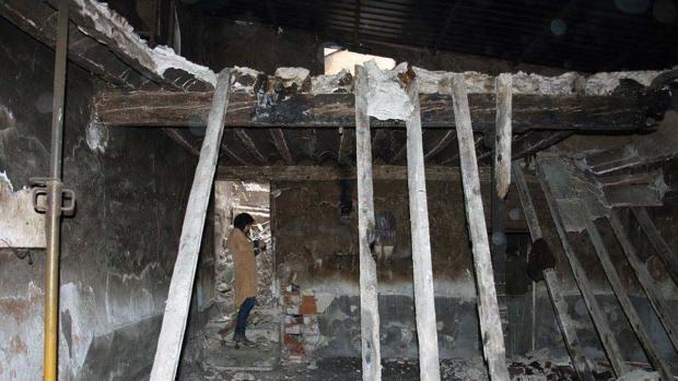 Estado del interior del inmueble tras el incendio