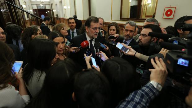 El presidente Mariano Rajoy, en el Congreso de los Diputados