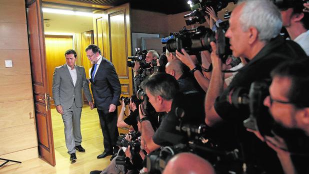 Mariano Rajoy y Albert Rivera, en el Congreso el pasado verano