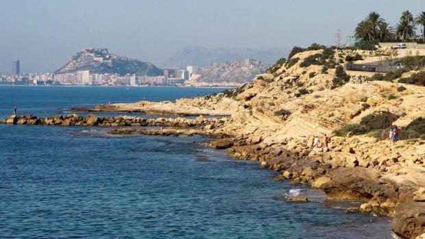 Cabo de las Huertas en Alicante, zona donde se produjo el conflicto