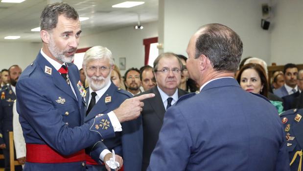 El Rey Felipe VI preside el acto conmemorativo del XXV aniversario de la Academia Básica del Ejército del Aire