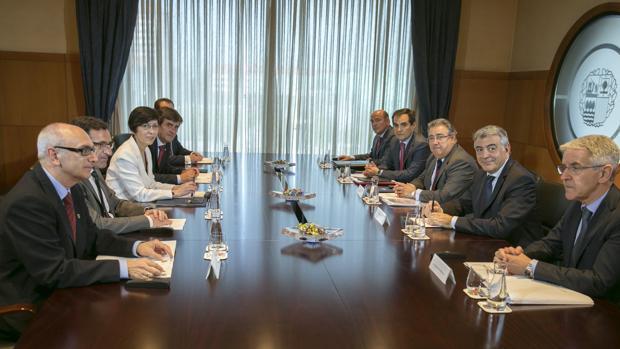 Imagen esta tarde de la Junta de Seguridad del País Vasco, que no se reunía desde 2012