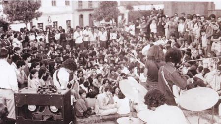 Plaza de la Candelaria, Moya, en 1970
