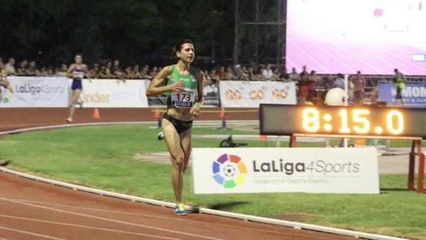 Irene Sánchez-Escribano durante la carrera en la que ganó el campeonato de España