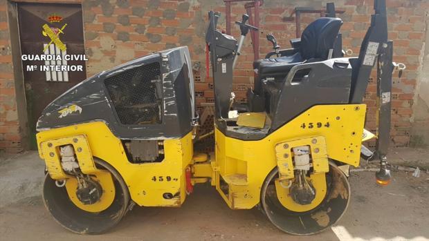 Una de las máquinas robadas
