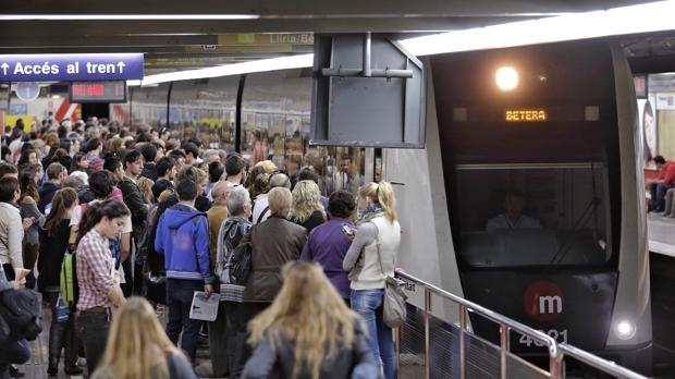 Imagen de archivo de una huelga en el metro de Valencia