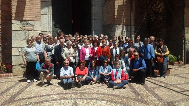 Un grupo de peregrinos a Urda del año pasado