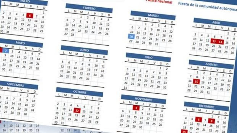Calendario Julio 1976.Calendario Laboral De 2018 En Madrid