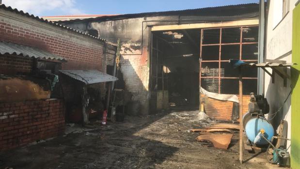 El estado de la carpintería tras el incendio
