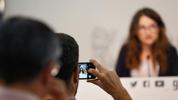 Imagen de archivo de una comparecencia de Mónica Oltra