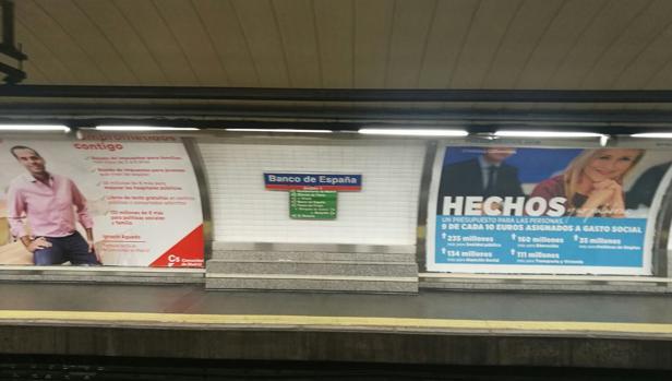 Anuncios publicitarios en el Metro de Madrid