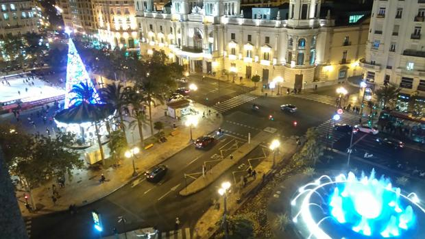 Imagen de la plaza del Ayuntamiento de Valencia