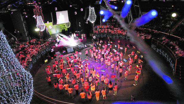 Pista central del Circo Price, en la inauguración de las Olimpiadas Matemáticas, en 2008