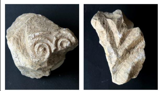 Fragmentos de relieves visigodos con decoración vegetal