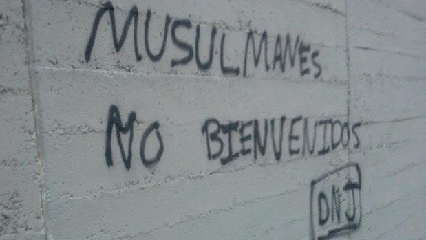 Pintada en las cercanías de la Mezquita de la M-30