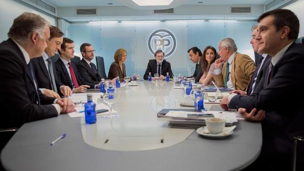 Reunión del Comité de Dirección del PP, ayer