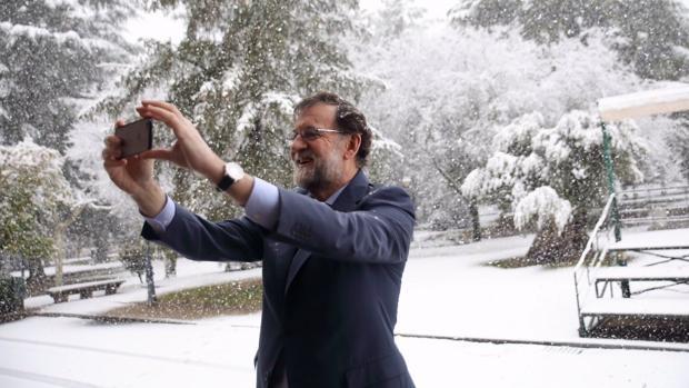 Mariano Rajoy, en la nevada del 5 de febrero