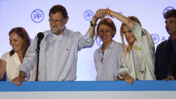 Mariano Rajoy y Cristina Cifuentes en 2016