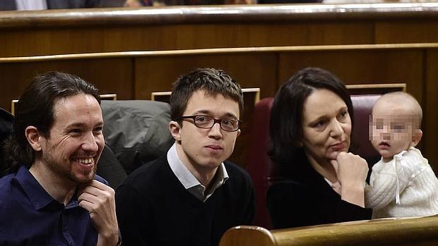 Pablo Iglesias, Íñigo Errejón y Carolina Bescansa en una imagen de archivo