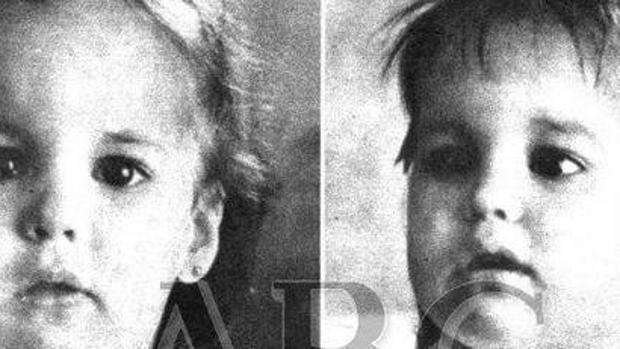 Esther y Myriam, dos de las niñas, de tres años, asesinadas el 11 de diciembre de 1987