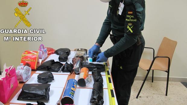 Imagen de la operación de la Guardia Civil
