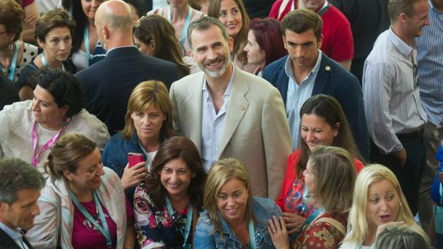 El Rey, en la un acto de la Fundación Princesa de Girona el año pasado en Gerona