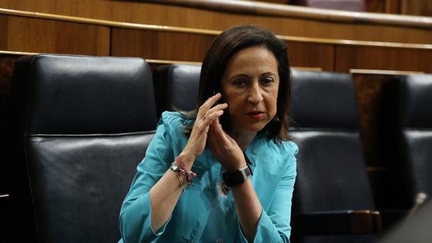 La ministra de Defensa Margarita Robles durante la sesión de control en el Congreso
