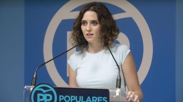 Isabel Díaz Ayuso, portavoz del Comité de Dirección del PP de Madrid