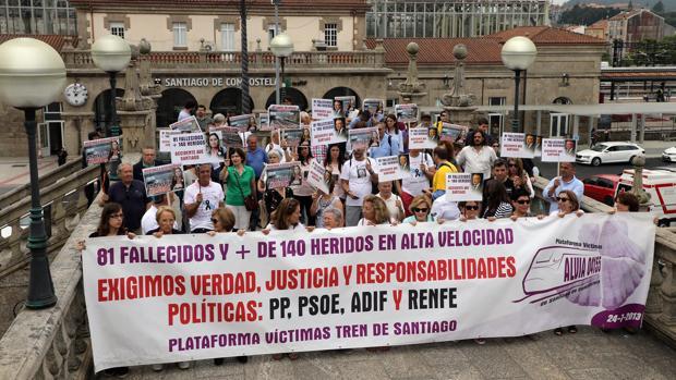 Manifestación de las víctimas el pasado julio