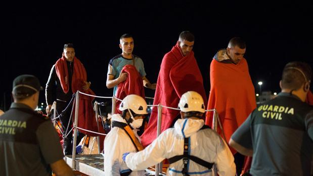 Desembarco de inmigrantes en Motril el viernes