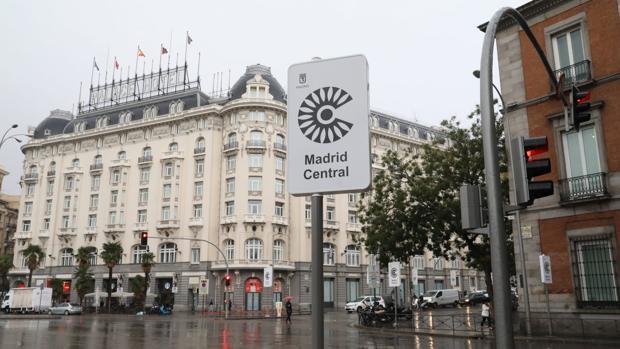 Señal vertical de Madrid Central